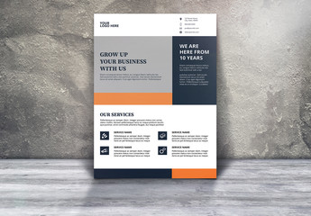 Corporate Business Flyer with Orange and White Accents 1