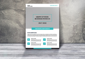 Corporate Business Flyer with Teal and White Accents 1