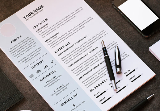 Resume and Cover Letter with Light Blue Sidebar 1