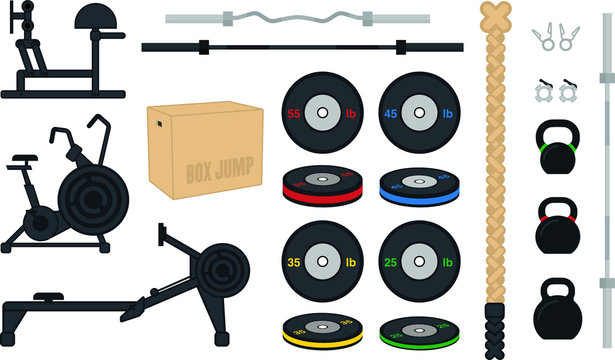 CrossFit and Weightlifting Exercise Set