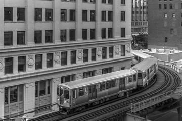 Subway rounding a corner
