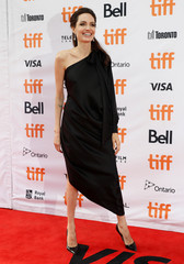 "Jolie arrives on the red carpet for the film ""First They Killed My Father"" during the Toronto International Film Festival in Toronto"
