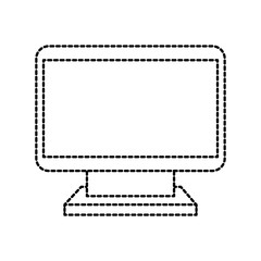 computer monitor device wireless technology icon vector illustration