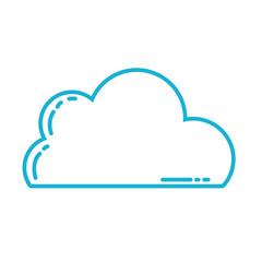 line nice cloud natural weather design vector illustration