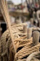 "Cordage bateau ""La Grace"" la Rochelle France"