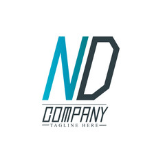 Initial Letter ND Design Logo Template
