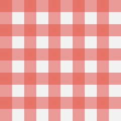Red Gingham seamless pattern. Perpendicular strips. Texture for - plaid, tablecloths, clothes, shirts, dresses, paper, bedding, blankets, quilts and other textile products. Vector illustration.
