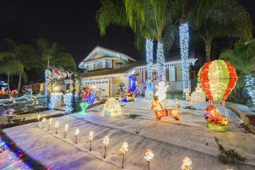 Beautiful christmas decoration at Brea Neighborhood