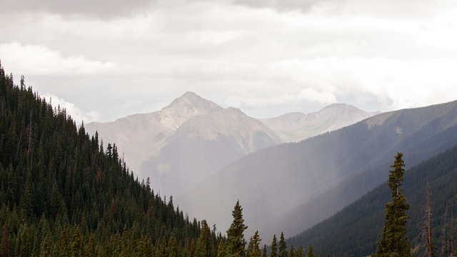 Misty Mountain Views in Colorado.
