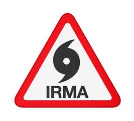 Hurricane Irma Warning Sign Isolated