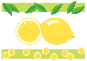 レモンのイラストとフレーム