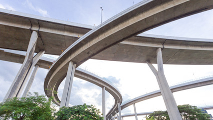 industry construction picture image under bridge,Bhumibol Bridge bangkok Thailand
