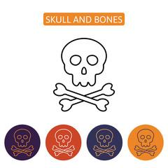Skull and bones icon.