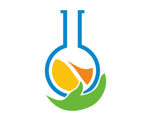round flask bottle chemistry tool icon image vector
