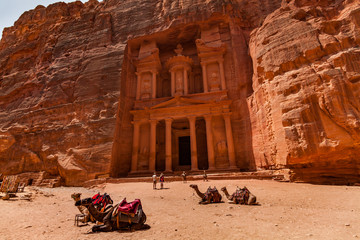 Al Khazneh - the treasury, ancient city of Petra, Jordan.