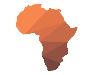 geography africa continent mainland icon image vector