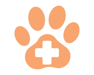 pet care clinic paw pet animal fauna icon image vector