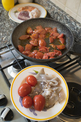 seafood sauce with fresh tomatoes