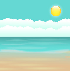 Beautiful Surise Scene Vector