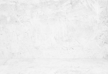 Fotobehang - Empty white cement room, background, banner, interior design, product display montage, mock up background
