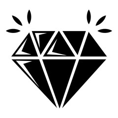 Mine diamond icon , simple style