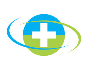 circle medical cross hospital clinic icon logo image vector