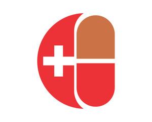 pills drug medical cross hospital clinic icon logo image vector