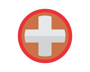 circle medical cross hospital clinic icon logo image vector