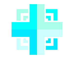blue medical cross hospital clinic icon logo image vector