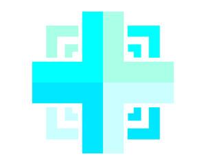 blue medical cross hospital clinic icon logo image vector