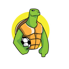 Turtle soccer player