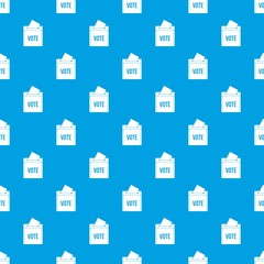 Ballot box pattern seamless blue