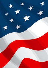 USA Flag Background America