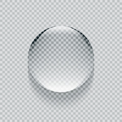 Shiny realistic transparent round vector water drop