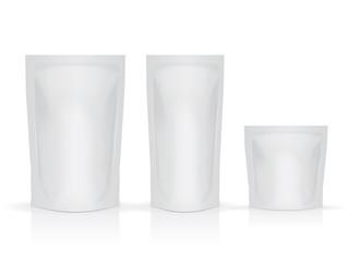Blank foil food or drink pack packaging vector
