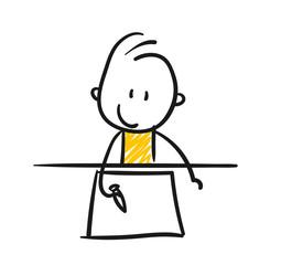 Strichfiguren / Strichmännchen: Schreiben, malen. (Nr. 77)