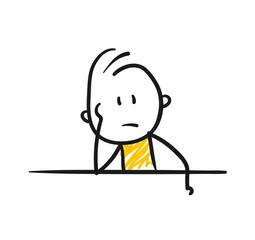 Strichfiguren / Strichmännchen: Gelangweilt, genervt. (Nr. 76)