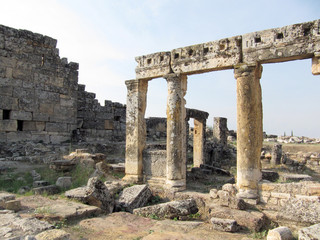 Ruins of the ancient Greek city in Turkey