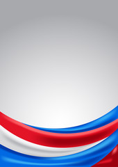 Colorful background. Color flag of Czech Republic, America, and France.