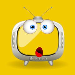 Surprised Cartoon TV Vector