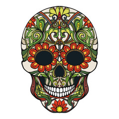 Sugar skull. The traditional symbol of the Day of the Dead. Stoc