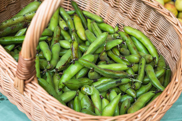 Green peans at Farmers Fresh Food Market