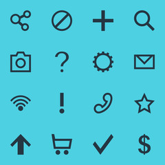 Vector Illustration Of 16 User Icons. Editable Pack Of Confirm, Cogwheel, Help And Other Elements.