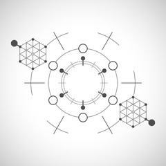 Abstract technological element. Technology template.