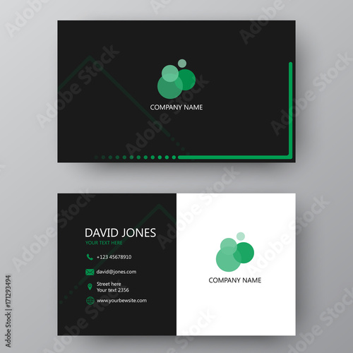 Modern presentation card with company logo vector business card modern presentation card with company logo vector business card template visiting card for business reheart Choice Image