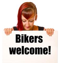 Fototapete - Bikers welcome!
