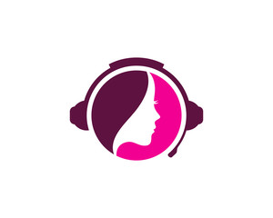 Podcast Beauty Icon Logo Design Element