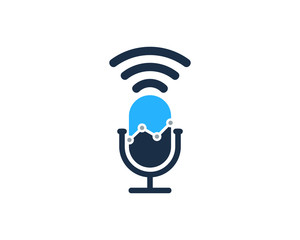 Podcast Market Icon Logo Design Element