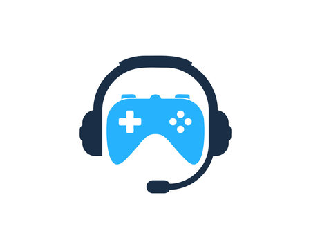 Game Podcast Icon Logo Design Element