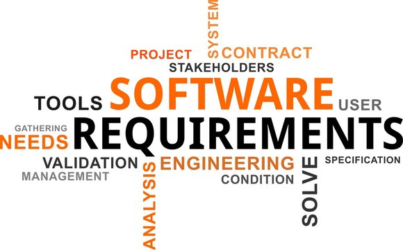 word cloud - software requirements